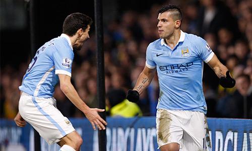 Aguero nổ súng trở lại sau khi tịt ngòi ở năm lần ra sân gần nhất cho Man City. Ảnh: Reuters.