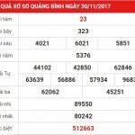 Phân tích kết quả xổ số Quảng Bình chuẩn ngày 7-12-2017 cực chính xác