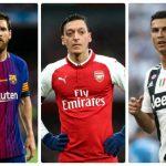 """Ozil tuổi 30 """"chấp"""" cả Ronaldo lẫn Messi"""