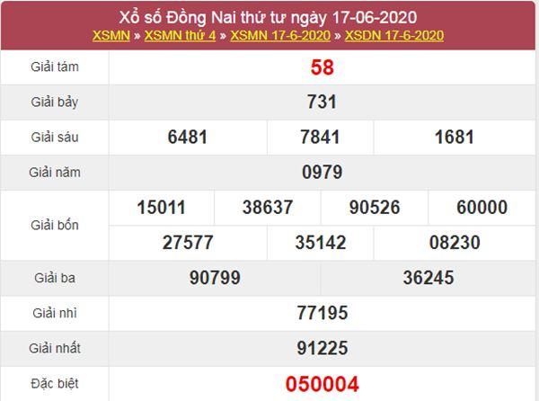Dự đoán XSDNA 24/6/2020 chốt KQXS Đồng Nai thứ 4