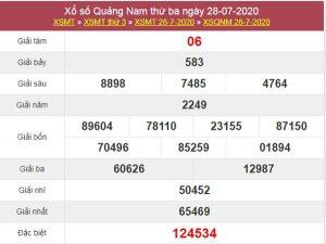 Dự đoán XSQNM 4/8/2020 chốt KQXS Quảng Nam thứ 3