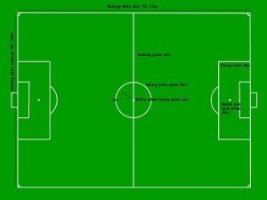 Kích thước sân bóng đá 7 người theo tiêu chuẩn FIFA
